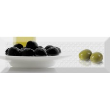 Absolut Keramika Monocolor Biselado Decor Olives Fluor 01 10X30