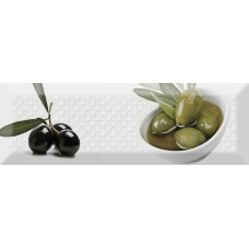 Absolut Keramika Monocolor Biselado Decor Olives Fluor 02 10X30