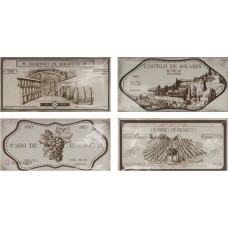 Fabresa Artisan Hueso Wine Labels Decor Mix 10X20