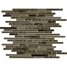 LAntic Colonial Mosaics Eternity Mini Strip Emperador 29.8X30.5