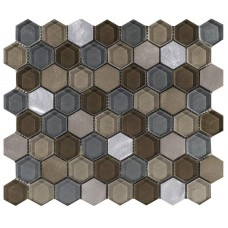 LAntic Colonial Mosaics Fusion Hexagon Caramel Mix 29.5X29.5