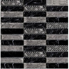 LAntic Colonial Mosaics Greek Negro Marquina 29.6X29.6