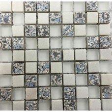 LAntic Colonial Mosaics Imperia White 30X30