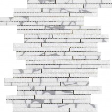 LAntic Colonial Mosaics Lines Safary Mini Strip Grey 22.7X30