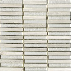 LAntic Colonial Mosaics Time Text Linear Silver Wood 30X30